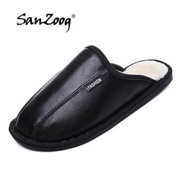 $enCountryForm.capitalKeyWord NZ - Hot Sale Home Shoes Men Winter Furry Slippers Fashion Warm Indoor Shoes Soft Plush Floor Slipper For Man Plus Size 45 46