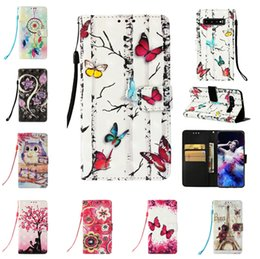 Wallet Painting Australia - 3D Painting Wallet Flip PU Leather Cover Case For Samsung Galaxy S10 Plus S10e S10 Lite Note9 S9 Plus S6 iphone Phone Cases
