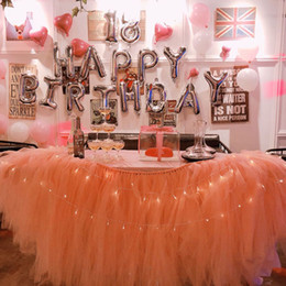 $enCountryForm.capitalKeyWord Australia - Tulle Tutu Table Skirt Birthday party Shower Wedding cake Table Home Textiles Wedding Party Decorations Diy Craft muslin fluffy