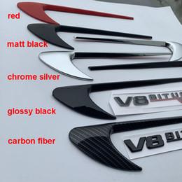 fender vent stickers 2019 - High Quality Vent Fender Trim Emblem Blade Logo Sticker Side Decoration for Benz AMG V8 C200 C300 E300 E400 W213 Carbon