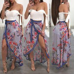 Kimono European Style NZ - Printed Beach Skirt Women's European and American Style Sexy Leggings Long Skirt Top Bandeau Strap TopsBest seller