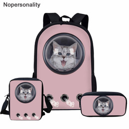 $enCountryForm.capitalKeyWord Australia - Nopersonality School Bag Pink Kawaii Astronaut Pet Cat School Backpack for Girls Book Bag Children Schoolbag Mochila Escolar