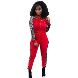 Batik Art UK - woman tracksuit long sleeve outfits 2 piece set jogging sportsuit hoodie legging sportswear sequin sweatshit tights sport suit-1029