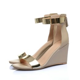 3c827644fa02 Platform Wedges Sandasl Cover Heel Gladiator Buckle Strap Mixed Color  Summer Shoes Woman Sandalias