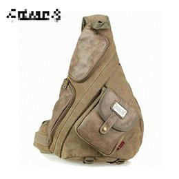 $enCountryForm.capitalKeyWord Australia - Wholesale- large canvas with leather chest bags for men Vintage casual male sling backpack Black Army green Khaki Free shipping PB36