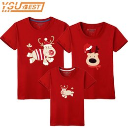 b6419344b Family Look Christmas Family Matching Outfits T Shirt Mother Daughter Short Sleeve  Dad Mom Baby Suit Father Son Clothes