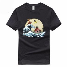 Dragonball Shirt Australia - Euro Size 100% Cotton Dragon Ball Z Super Saiyan Goku Vegeta Dragonball T-shirt Summer Short Sleeve O-neck T Shirt Gmt300009
