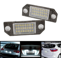 $enCountryForm.capitalKeyWord Australia - 2017 newest 2Pcs 12V White 24 LED Number License Plate Light Lamp for Ford Focus C-MAX MK2 Car Light Source