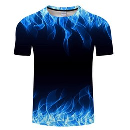 $enCountryForm.capitalKeyWord Australia - Blue Flaming Tshirt Men Women T Shirt 3d T-shirt Black Tee Casual Top Anime Camiseta Streatwear Short Sleeve Tshirt Asian Size