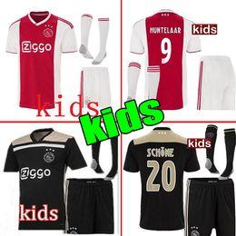 ef8f58157 Thailand 2018 2019 Ajax FC Soccer Jerseys kids kits + socks 18 19 Camisa  ZIYECH TADIC HUNTELAAR DOLBERG SCHONE Jerseys Football Shirts