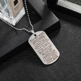 $enCountryForm.capitalKeyWord Australia - Wholesale Titanium Steel Letters To My Son To My Daughter Pendant Necklace Stainless Steel Mom Dad Customized Jewelry Birthday Gifts for Son