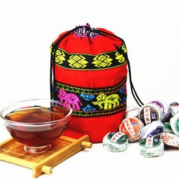 China 10 Flavors 210g China Raw and Cooked Puer tea Mini Puerh Tuocha Chinese Puer Black tea Ripe and Raw tea supplier pu er tea mini suppliers