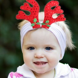 $enCountryForm.capitalKeyWord Australia - Christmas Baby Knot Bow Headbands Kids girls hair band Children Headwear Boutique hair accessories 2colors Turban C1811222