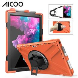 China Belt Bag Australia - AICOO Hybrid Armor Shockproof Tablet Case with Holder Shoulder Belt Hand Strap Pen Slot for Surface Go Surface Pro 4 5 6 OPP