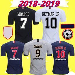 2ac4047c4 2018 2019 PSG MBAPPE soccer jerseys CAVANI VERRATTI top thailand 18 19  paris KIMPEMBE Kids sets football Kit uniforms shirts Maillot de foot