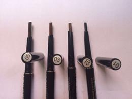 Wholesale Micro Brush Australia - Top sale NYX MICRO 2 in 1 Eye Brow Pencil Long-lasting Waterproof Black Brown Coffee Pen with Brush DHL Shipping