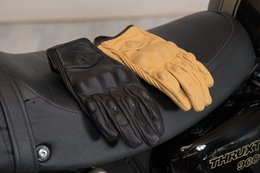 $enCountryForm.capitalKeyWord Australia - ROCK BIKER Retro Learther motorcycle gloves Moto Guantes Luva black brown leather Motocross glove Protective Gear M L XL XXL