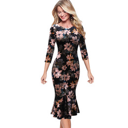 Discount casual business cocktail dresses - Vfemage Womens Elegant Vintage Autumn Pinup Wear To Work Office Business Casual Cocktail Party Fitted Bodycon Mermaid Dr
