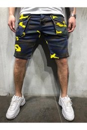 Wholesale mens cargo shorts fashion for sale – plus size Mens Camouflage Cargo Shorts Summer Designer Hombres Pantalones Pocket Sports Shorts