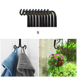 hooks brackets Australia - Hot Wall Hanger Hook Hanging Bracket Iron Hooks for Planter Lantern Coat LSK99