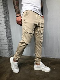 $enCountryForm.capitalKeyWord Australia - Casual Full Length Mens Cargo Pants Regular Multi Pocket Work Trousers Drawstring Trousers Male Fashion Clothing