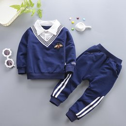 $enCountryForm.capitalKeyWord NZ - Baby Boys Clothes Sets Spring Autumn Kids Fashion Cotton Gentleman Coats+Pants 2pcs Tracksuits For Bebe Boy Toddler Wedding Suits Outfits