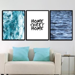 $enCountryForm.capitalKeyWord NZ - HD Print Painting Minimalist Poster Wall Pictures Blue Sea Ocean Scenery Nordic Style Canvas Art For Home Wedding Decoration