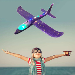 model aircraft carriers Australia - Hand throw airplane EPP Foam Outdoor Launch Glider Plane Kids Toys 48 cm Interesting Launch Throwing Inertial Model Gift