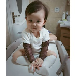 tattoo clothes Canada - Fashion Infant Baby Boys Romper Long Sleeve Tattoo Print Rock Children Boy Baby Clothing Romper Outfit Set MBR039-1