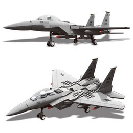 toy building bricks brands Australia - 262pcs Military Series F-15 Eagle Fighter Building Blocks Model Compatible Brand With Figures Airplane Set Bricks Toys For KidsMX190820