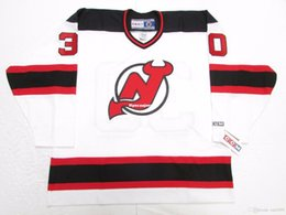Cheap custom MARTIN BRODEUR NEW JERSEY DEVILS WHITE VINTAGE CCM HOCKEY  JERSEY stitch add any number any name Mens Hockey Jersey XS-6XL 10882bcde