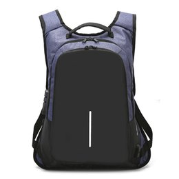 ipad anti theft UK - 15.6 inch Anti theft Backpack Computer bag SchoolBags Handbag Waterproof Laptop Backpack Large Capacity Rucksack for Boys and girls hot