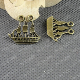 Boat Charms Australia - 50pcs 25*22MM Antique bronze tibetan boat ship charms vintage metal pendants diy necklace bracelet earring jewelry making material