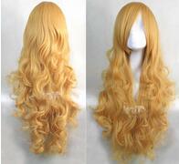 $enCountryForm.capitalKeyWord Australia - Oriental Project- Yu Mo Risa   death - fog song the rangiku mixed light gold curly wig Vogue Lady Girls Cosplay Peluca Products