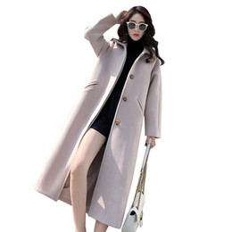 ElEgant fashions long wool coats online shopping - Autumn winter Women S Winter New Casual Elegant Style Single Button Woolen Ladies Wool Female Fashion Coat Long Overcoat LU584