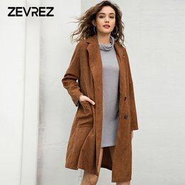 overcoat camel Canada - Camel H Type Woman Coat Winter 2018 Casual Coat with Pocket Turn-down Collar Double Breasted Outerwear Fashion Overcoat Zevrez
