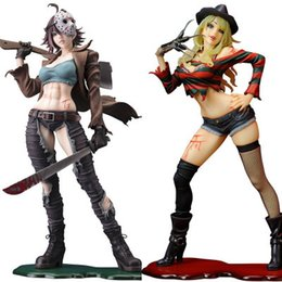 Gift hot sexy online shopping - NEW hot cm sexy Freddy Vs Jason Female version Action figure toys doll collection Christmas gift with box T191022