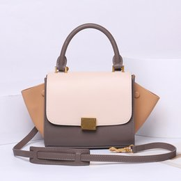 $enCountryForm.capitalKeyWord Australia - Elegant2019 Woman Year Genuine Leather Handbag Bat Xiaqiuqian Single Shoulder Span Cowhide Wing Package
