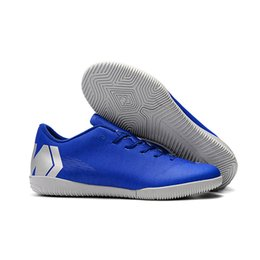 eva soles UK - Cross-Border Assassin 12 Indoor Flat-soled IC Football Shoes Cement Floor Training Shoes CR7 Neymar Male