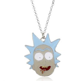 Link Action Figures UK - MOQ:10PCS Drama Rick and Morty Action Figure Toys Pendant Necklace Pendants Pickled Cucumber Doctor Chains Necklace For Men Dec