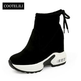 $enCountryForm.capitalKeyWord Australia - Fashion Increasing Shoes Women High Heels Ankle Boots For Women Autumn Winter Rubber Boots Women Pumps Ladies