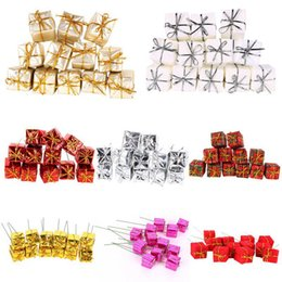 $enCountryForm.capitalKeyWord Australia - Hot Sale 12PCS Mini Gift Box Christmas Tree Decorations Ornaments New-Year Decorations Hanging Ornaments