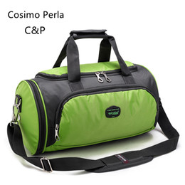 ac7c1e18e9 Duffle Bag Blue NZ - Multicolored Portable Travel Duffle Fashion Sports  Fitness Bag Cylindrical Luggage Bag