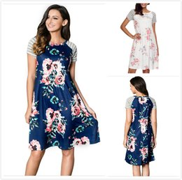 $enCountryForm.capitalKeyWord Australia - T-shirt Dresses Womens Summer Tunic Backdrop Floral Print Casual A-line Loose Dress