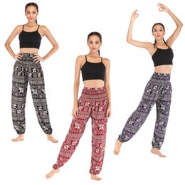 pattern yoga pants Australia - Thai casual yoga pants Eyes and Elephant Yoga Pants Lantern Pants Wear Women's Cotton 9 patterns free shipping