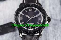 swiss mens luxury watch NZ - ZF Top Luxury Mens Watch Fifty Fathoms Dark Knight 5015-11C30-52A PVD Black Dial Swiss 1315 Automatic 28800vph Ceramic Bezel Wristwatch