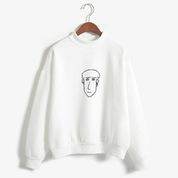 kids portraits NZ - Stray kids' Changbin Portrait by Han Slim Fit sweatshirt Simple lines winter women's pastel color long sleeve round neck sweatsh