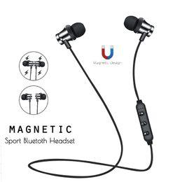 Wireless Headphones Mic Blue Australia - Magnetic Music Wireless Bluetooth Headphones For iPhone Xiaomi Huawei Android Phone Neckband XT11 Sport CSR Bluetooth Earphone with Mic