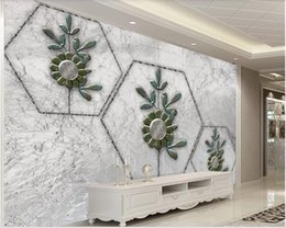 stylish room wallpaper UK - 3d room wallpaper custom photo mural Modern minimalist stylish metal flower tv background wall home improvement wallpaper for walls 3 d