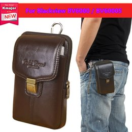 Cell Phone Covers Free Shipping Australia - Luxury Genuine Leather Carry Belt Clip Pouch Waist Purse Case Cover for Blackview BV6000 BV6000S Cell Phone Bag Free Shipping